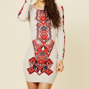 FREE PEOPLE Aztec Princess Bodycon XS Embroidered
